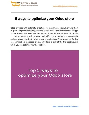 Odoo Apps by Biztech Store - Issuu