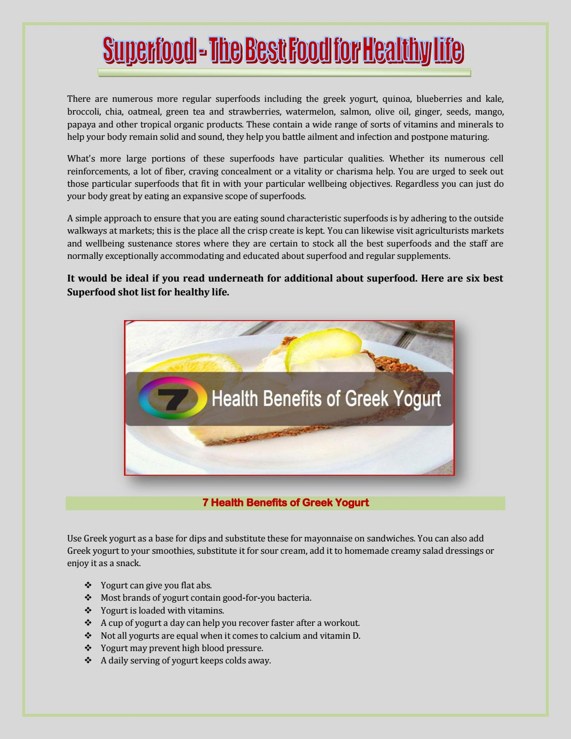 Superfood - The Best Food For Healthy life by Jerin Merina - issuu