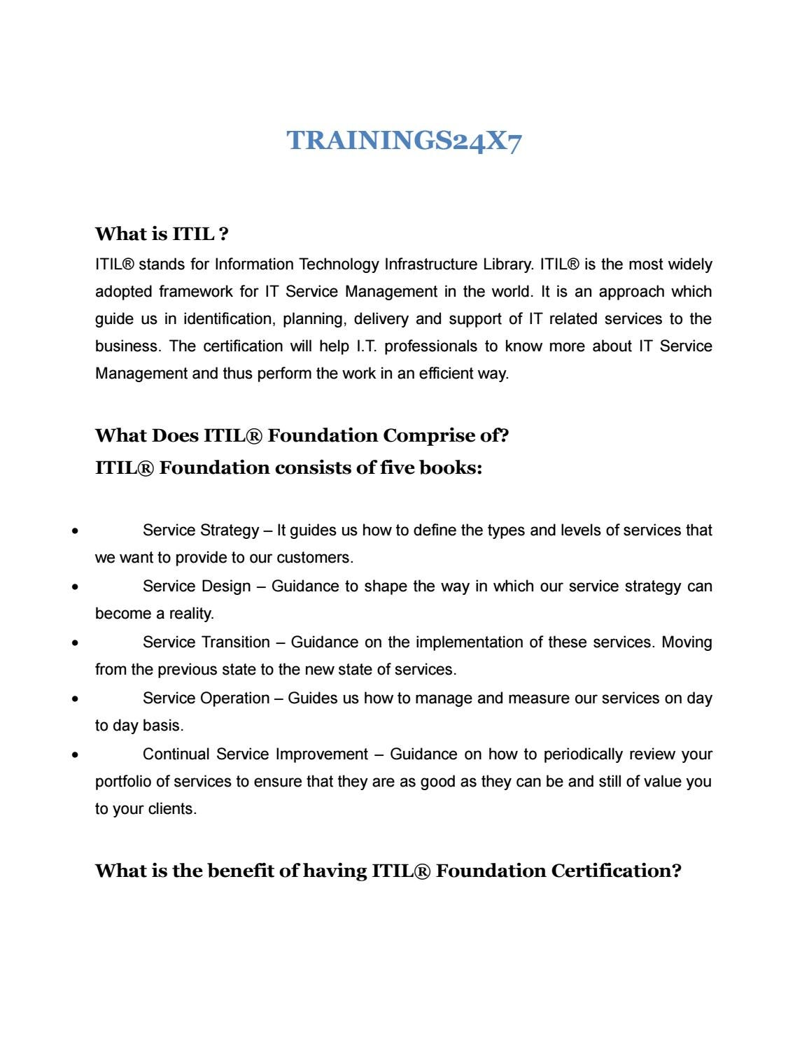 Itil1 By Trainings24x7 Issuu