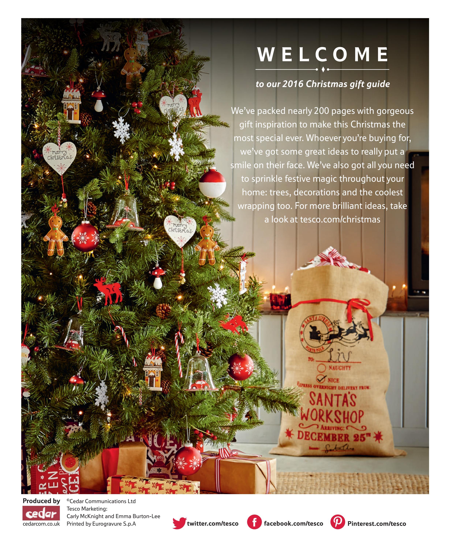 Tesco Christmas Gift Guide 2016 By Tesco Magazine