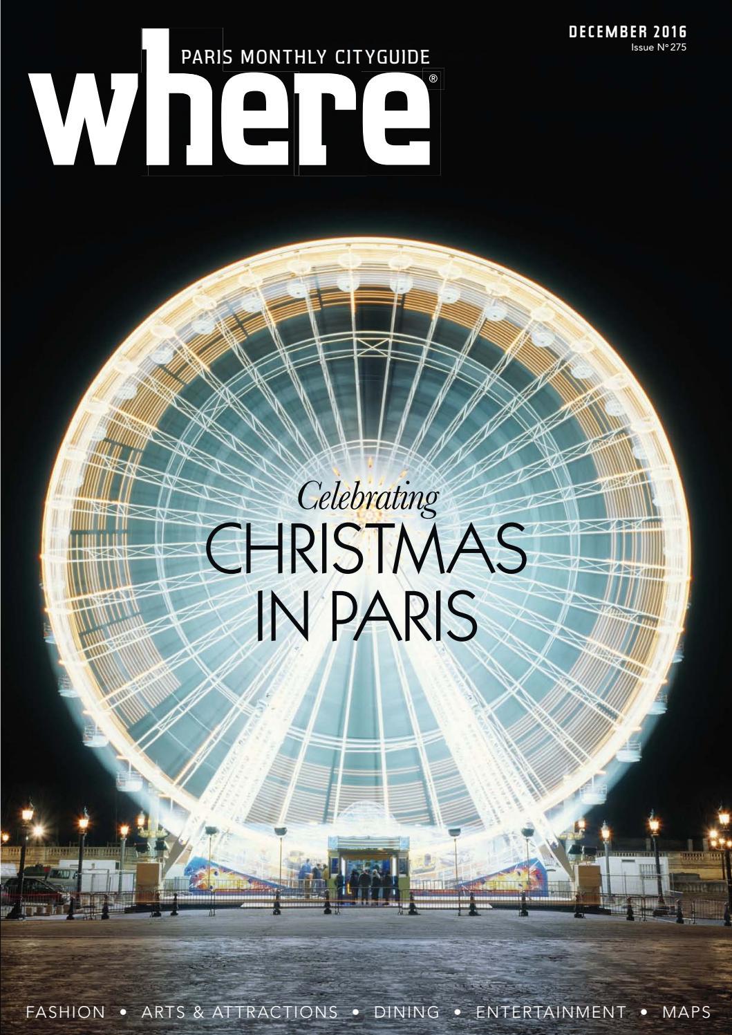 Where Paris December 2016 By Morris Media Network Issuu