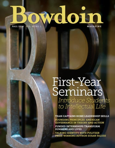 Bowdoin magazine vol 88 no 1 fall 2016 by bowdoin magazine issuu page 1 fandeluxe Gallery
