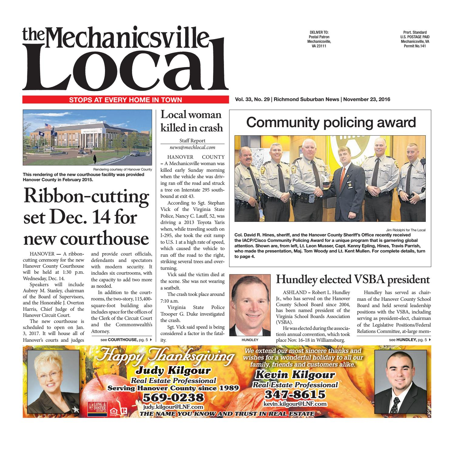 11/23/16 by The Mechanicsville Local - issuu