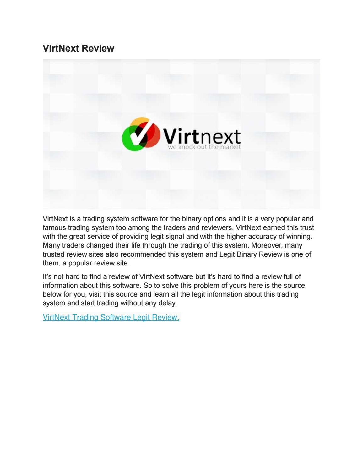 Virtnext binary options