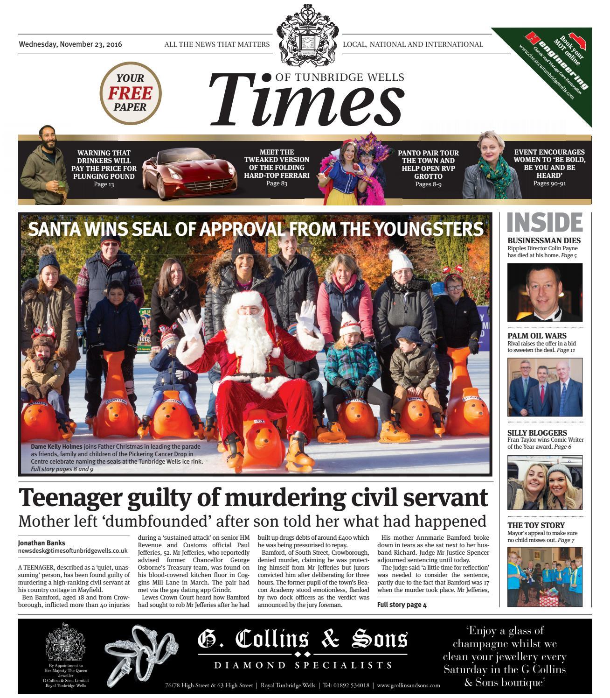 3344ccab3b99 Time of Tunbridge Wells - 23rd November 2016 by One Media - issuu