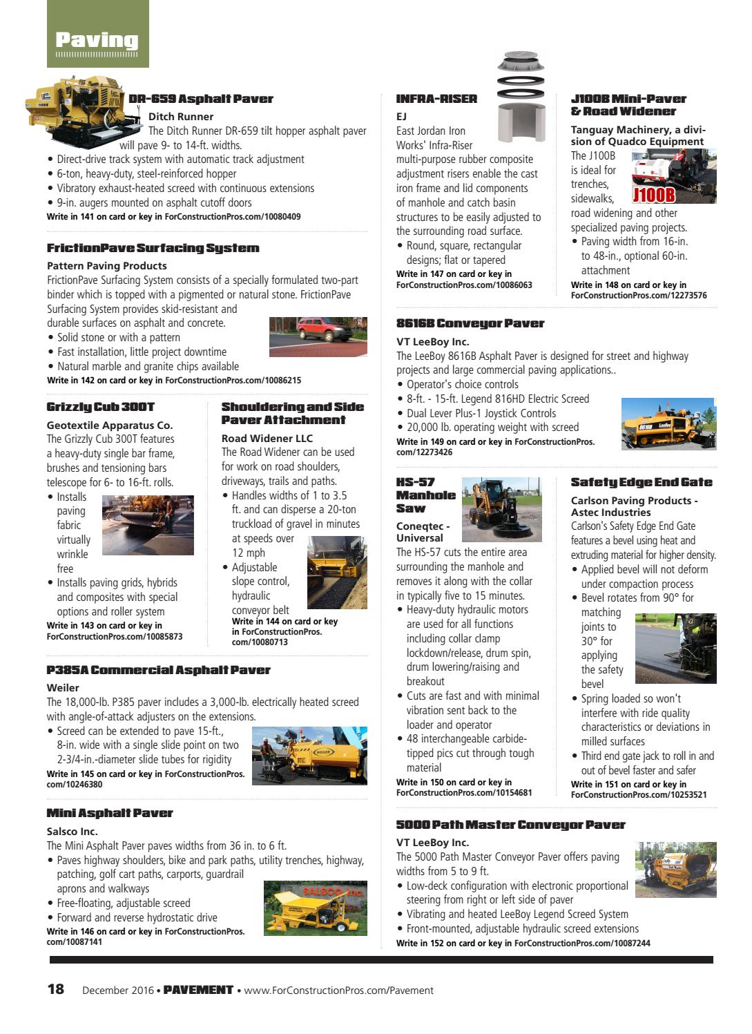 Pavement Maintenance & Reconstruction December 2016 by ForConstructionPros.com - issuu