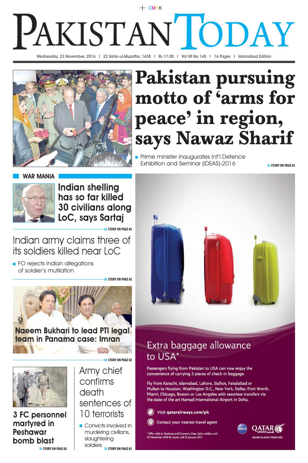 E Paper Pdf 23 11 2016 Isb By Pakistan Today Issuu