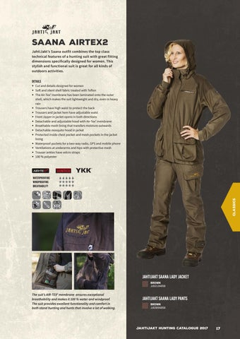 b40fd77f7531e SAANA AIRTEX2 JahtiJakt's Saana outfit combines the top class technical  features of a hunting suit with great fitting dimensions specifically  designed for ...