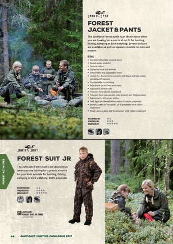 bde0282606cc3 FOREST JACKET & PANTS The JahtiJakt Forest outfit is an ideal choice when  you are looking for a practical outfit for hunting, fishing, camping or  bird ...