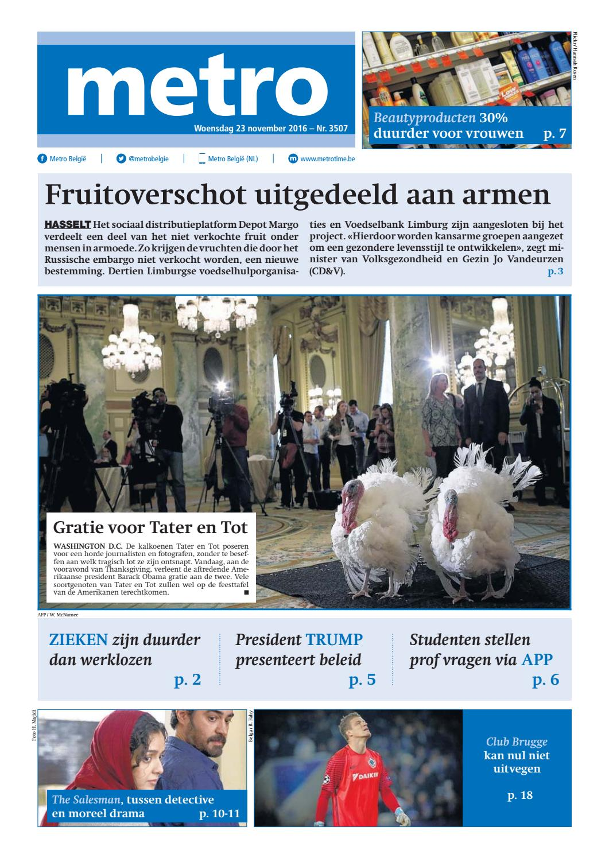 Metro nl 20161123 by Mass Transit Media NV Metro issuu