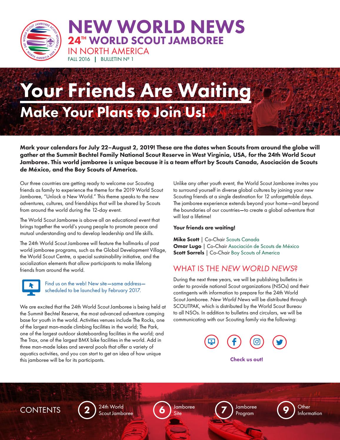 WSJ 2019 Bulletin 1 by World Organization of the Scout