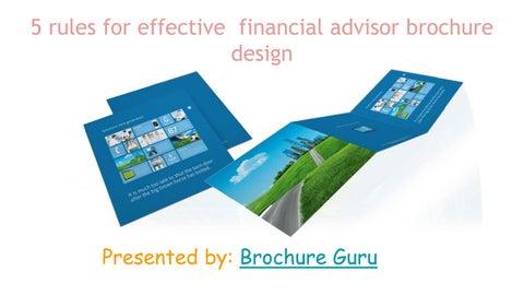 5 rules for effective financial advisor brochure design by denial