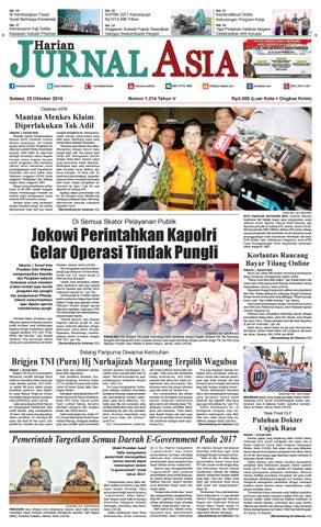Harian Jurnal Asia Edisi Selasa, 25 Oktober 2016