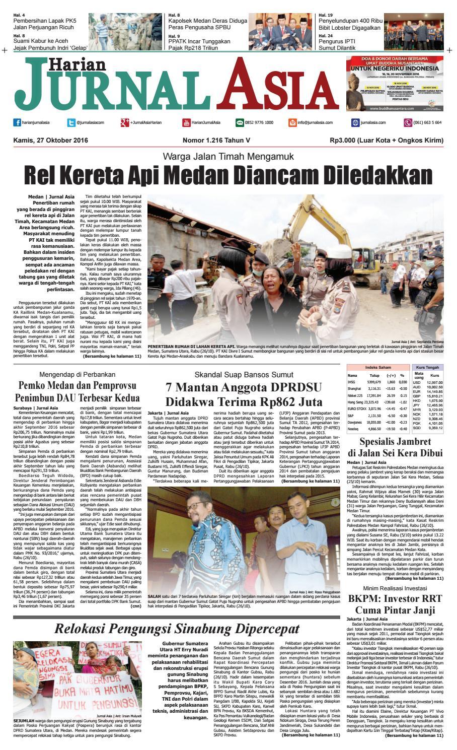Harian Jurnal Asia Edisi Kamis 27 Oktober 2016 By Produk Ukm Bumn Tas Phiton Kombinasi Coklat Krem Medan Issuu