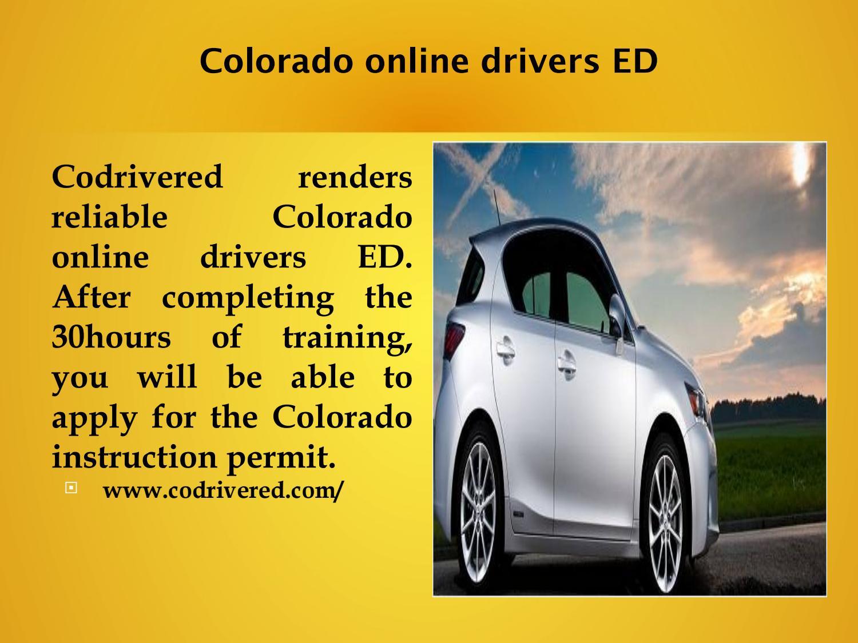 online drivers ed colorado permit