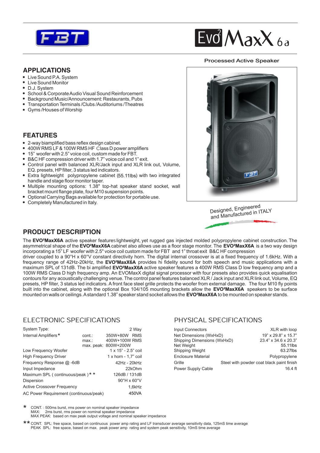 EVO2MaxX 6A by FBT Elettronica S p A  - Issuu