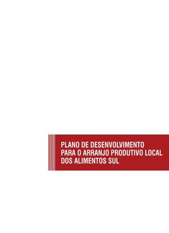 bce6e0effb230 Relatório do plano de desenvolvimento do arranjo produtivo local de  alimentos da região sul