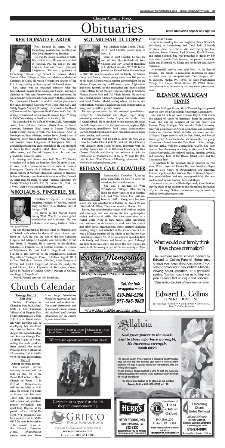 Chester County Press 11-23-16 Edition by Ad Pro Inc  - issuu