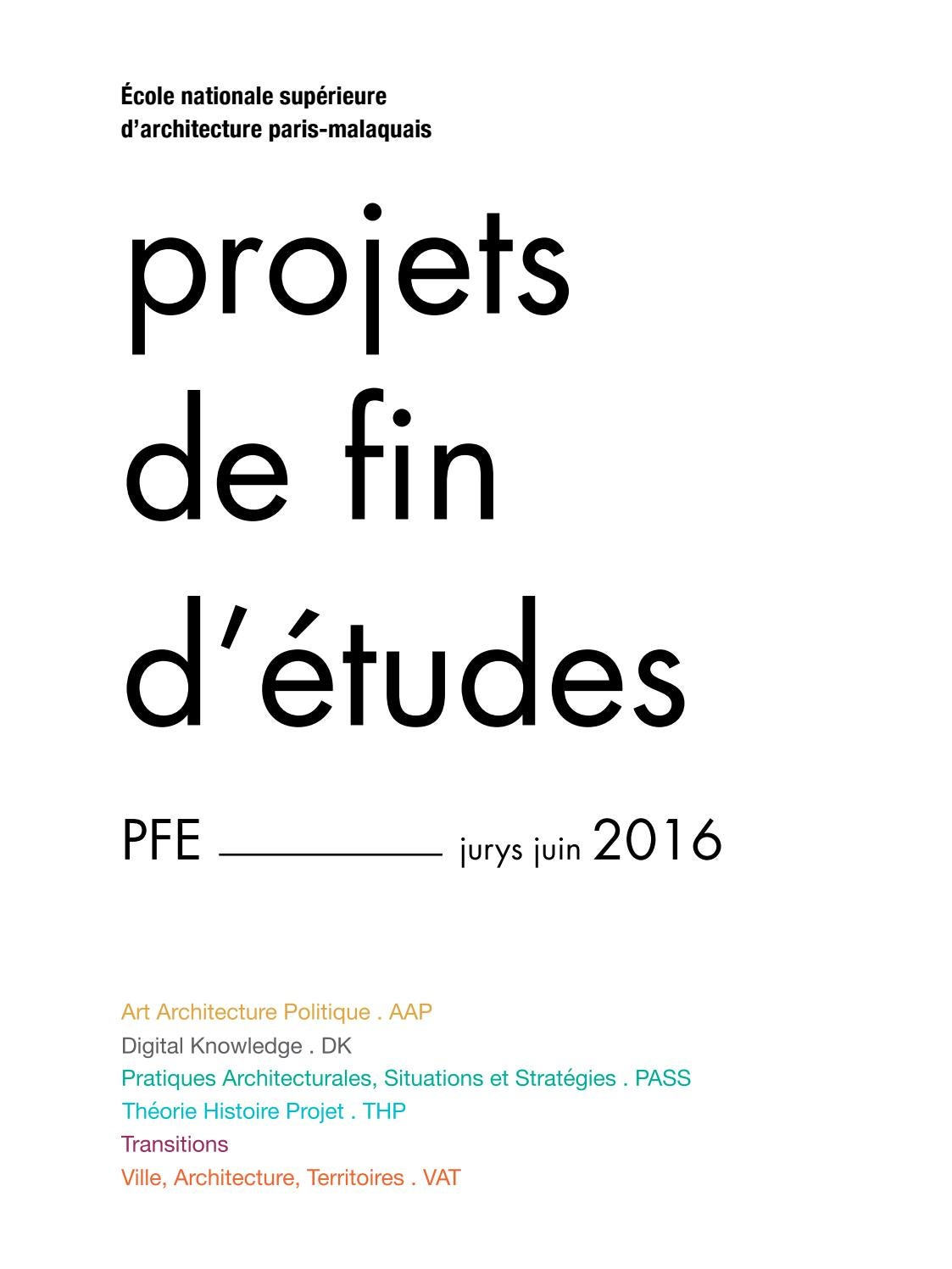 catalogue pfe ensa paris-malaquais 2016 by ensapm