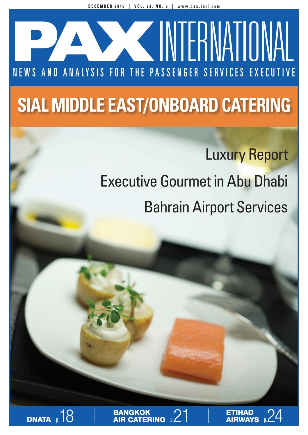 Thomson Inflight Meals >> Pax International Sial Middle East Onboard Catering 2016 By