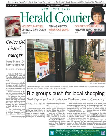 Heraldcourier112516 by the island now issuu serving new hyde park north new hyde park herricks garden city park manhasset hills north hills floral park reheart Images