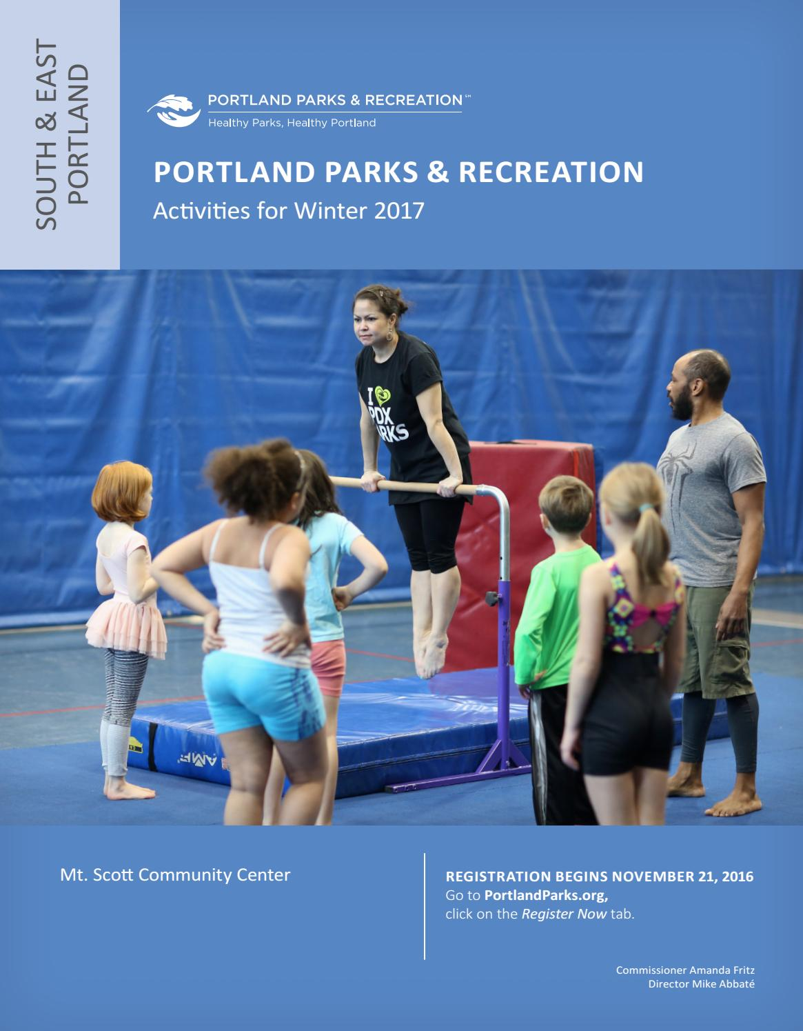 mt scott community center winter 2017 by portland parks