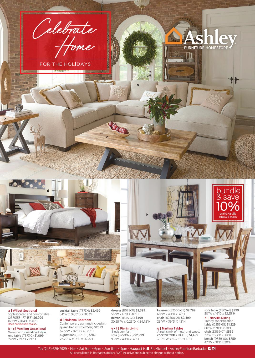 Ashley Holiday Catalog 2016 By Ashley Furniture Homestore Barbados Issuu