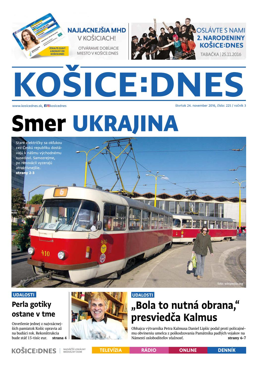 374378004447 KOŠICE DNES 24.11.2016 by KOŠICE DNES - issuu