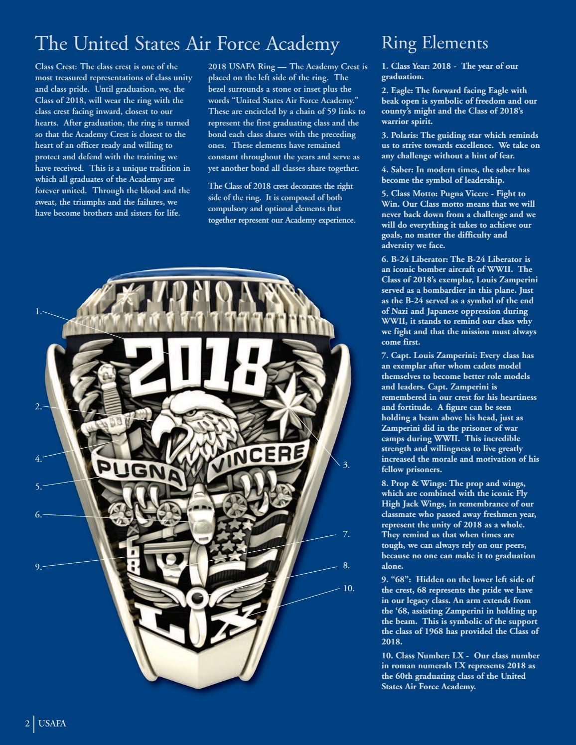 USAFA 2018 Class Ring Catalog by Jostens - issuu