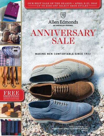 7d398976eda 2016 Allen Edmonds Anniversary Sale by Allen Edmonds Shoe ...
