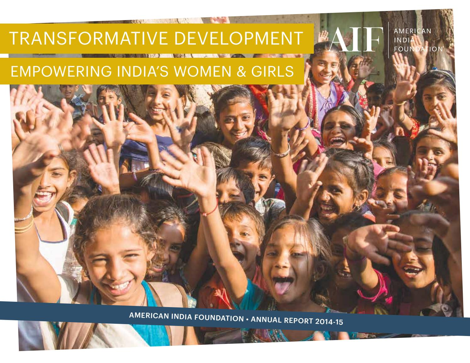 Annual Report 2014-15 by American India Foundation - issuu