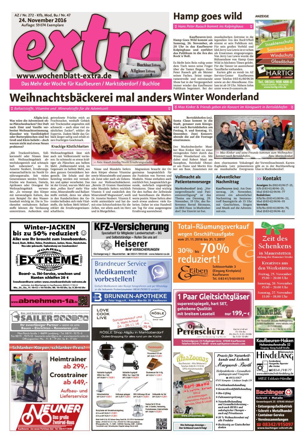extra Kaufbeuren vom Donnerstag, 24. November by rta.design GmbH - issuu