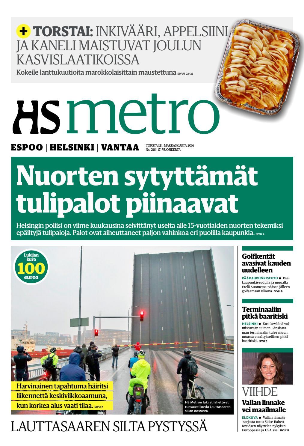 20161124 fi helsinki by metro finland - issuu 227bf31ade