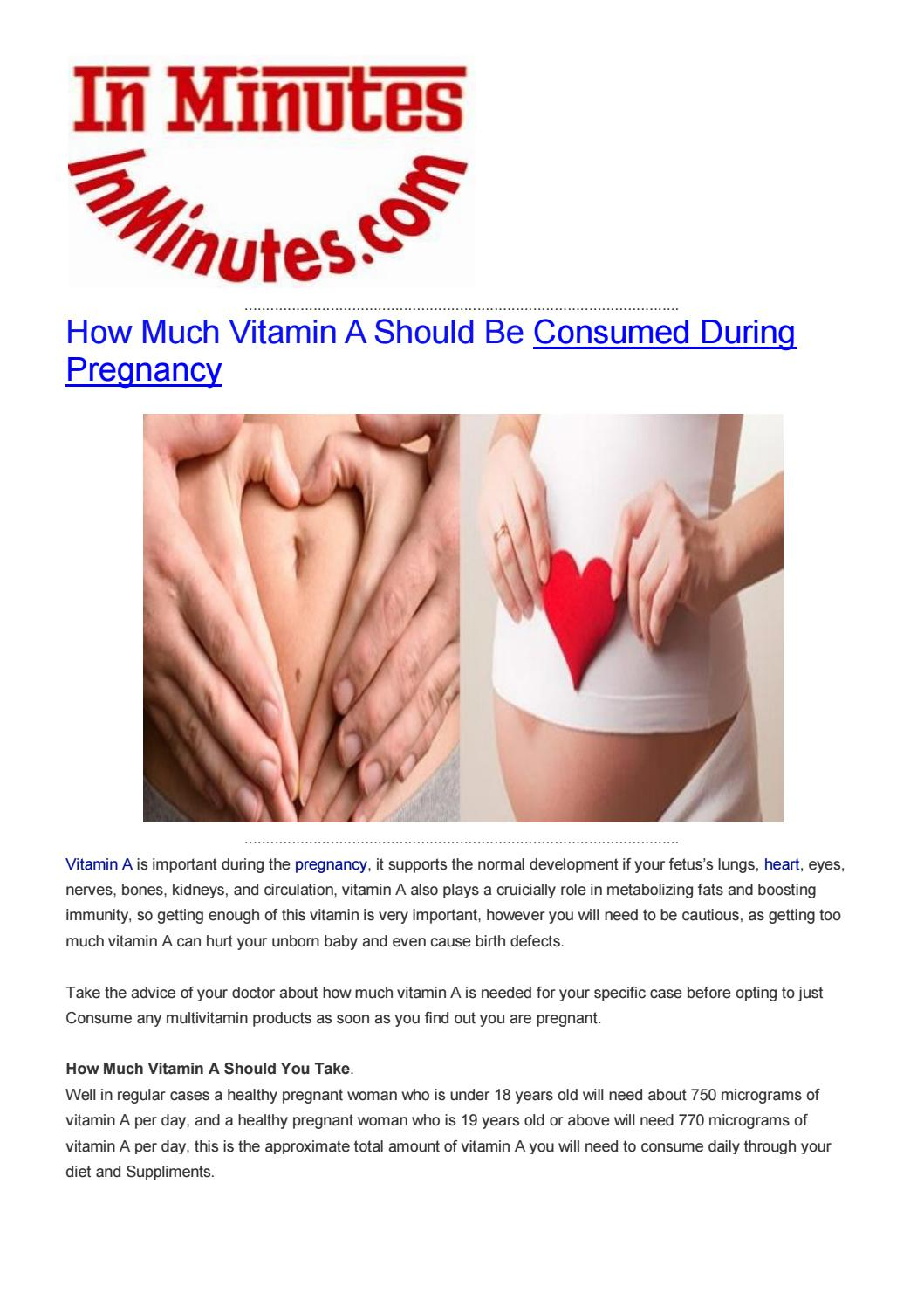 pregnant how much vitamin a