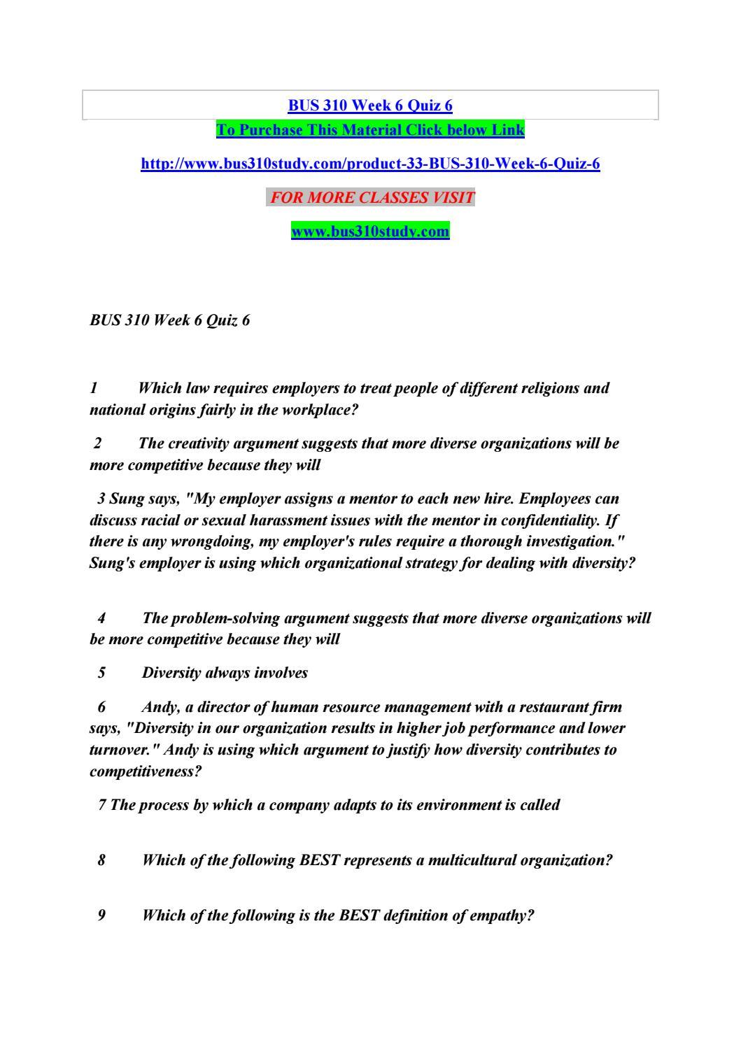 Bus 310 Week 6 Quiz 6 By Singht Rock 11 Issuu