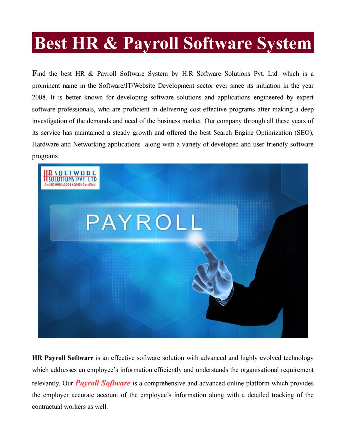 Best hr & payroll software system by Sumit Saxena - issuu