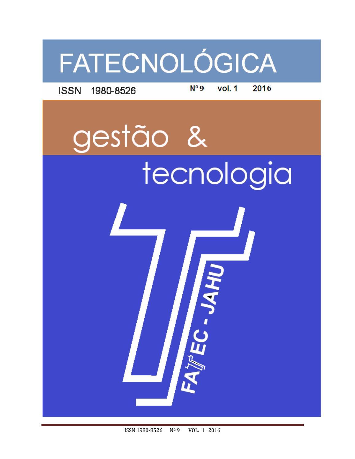 fa9b615de Revista Fatecnológica nº 9 by Fatec Jahu - issuu