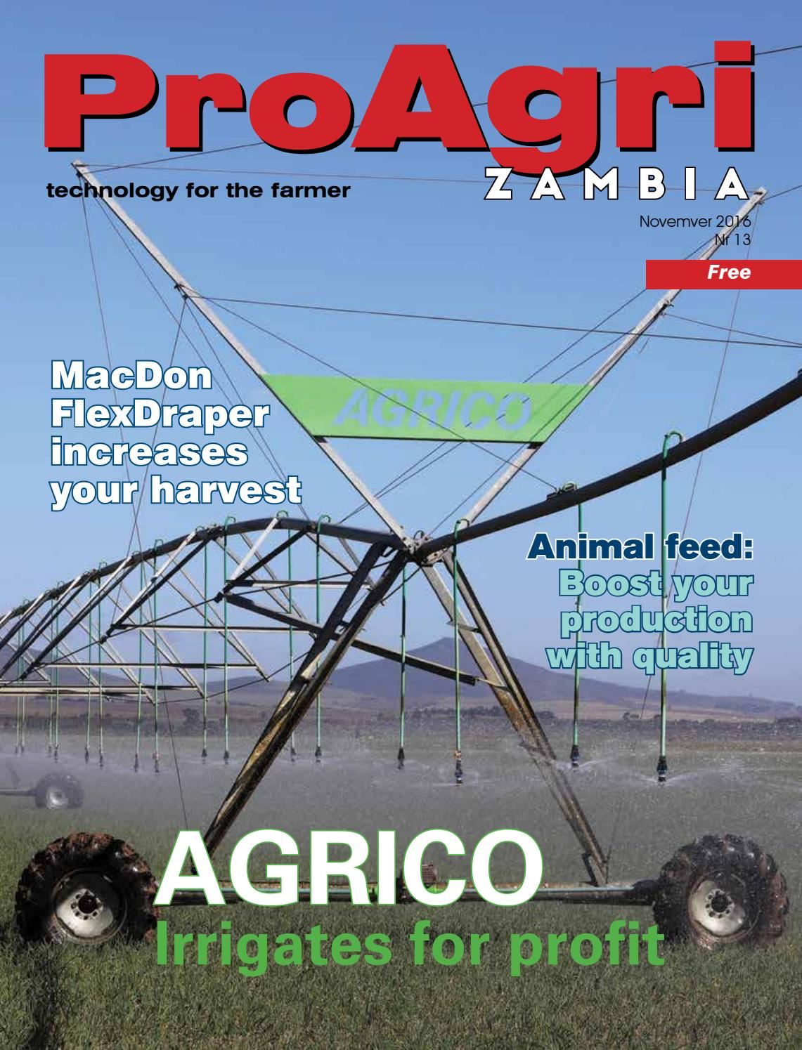 ProAgri Zambia 13 - November 2016 by ProAgri - issuu