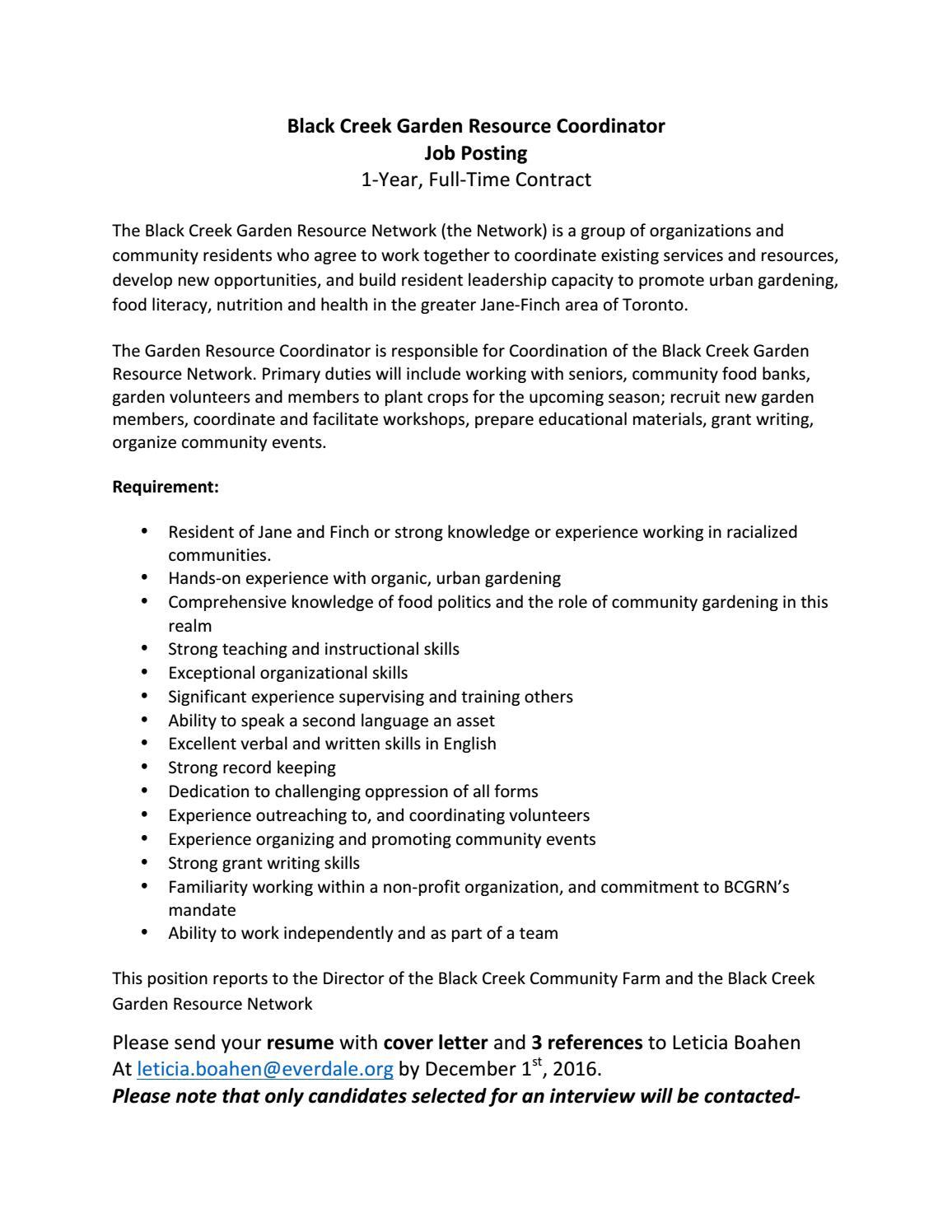 Black Creek Garden Resource Network by Green Change - issuu
