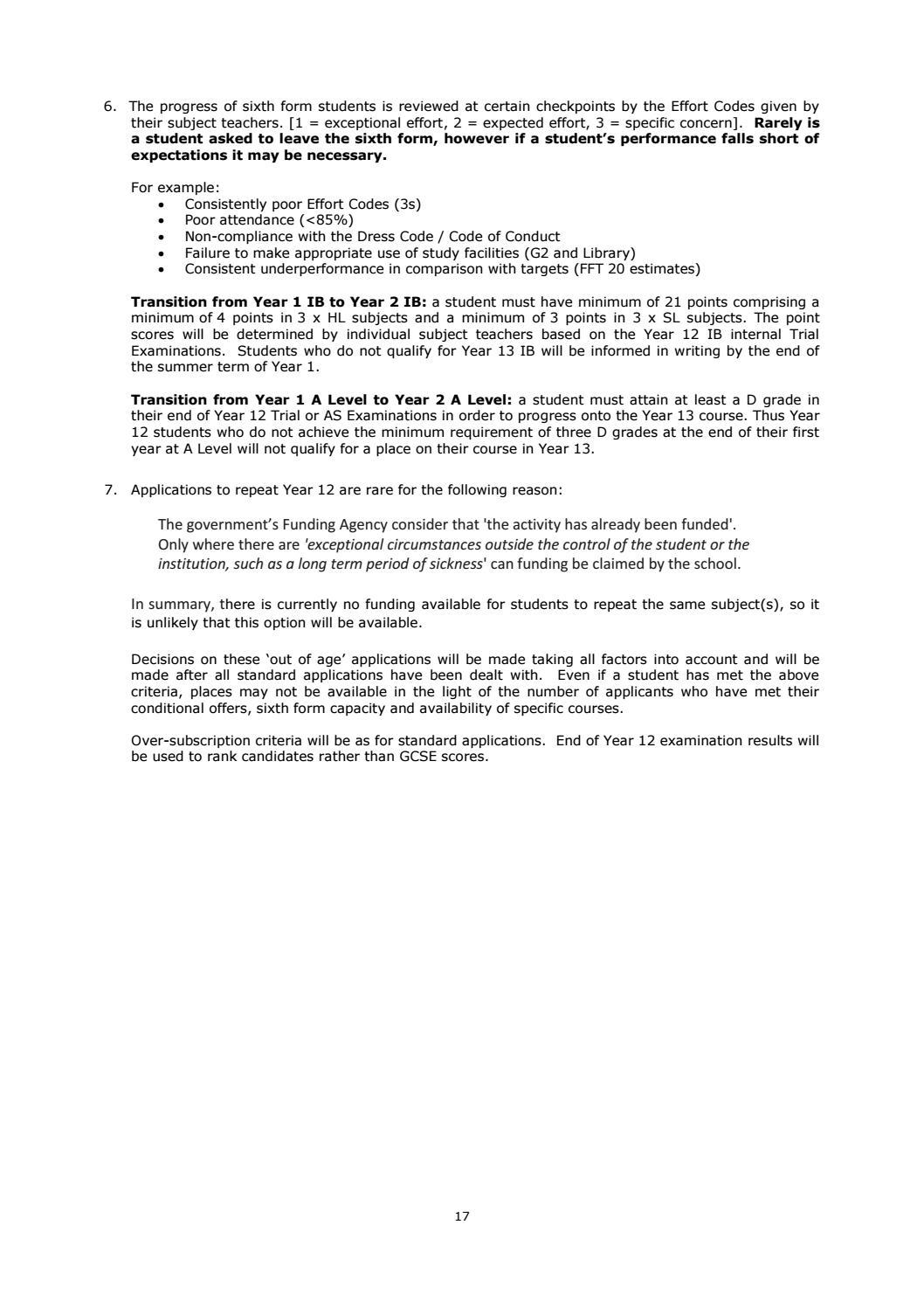 Sir Henry Floyd Grammar School Sixth Form Prospectus 2017 by