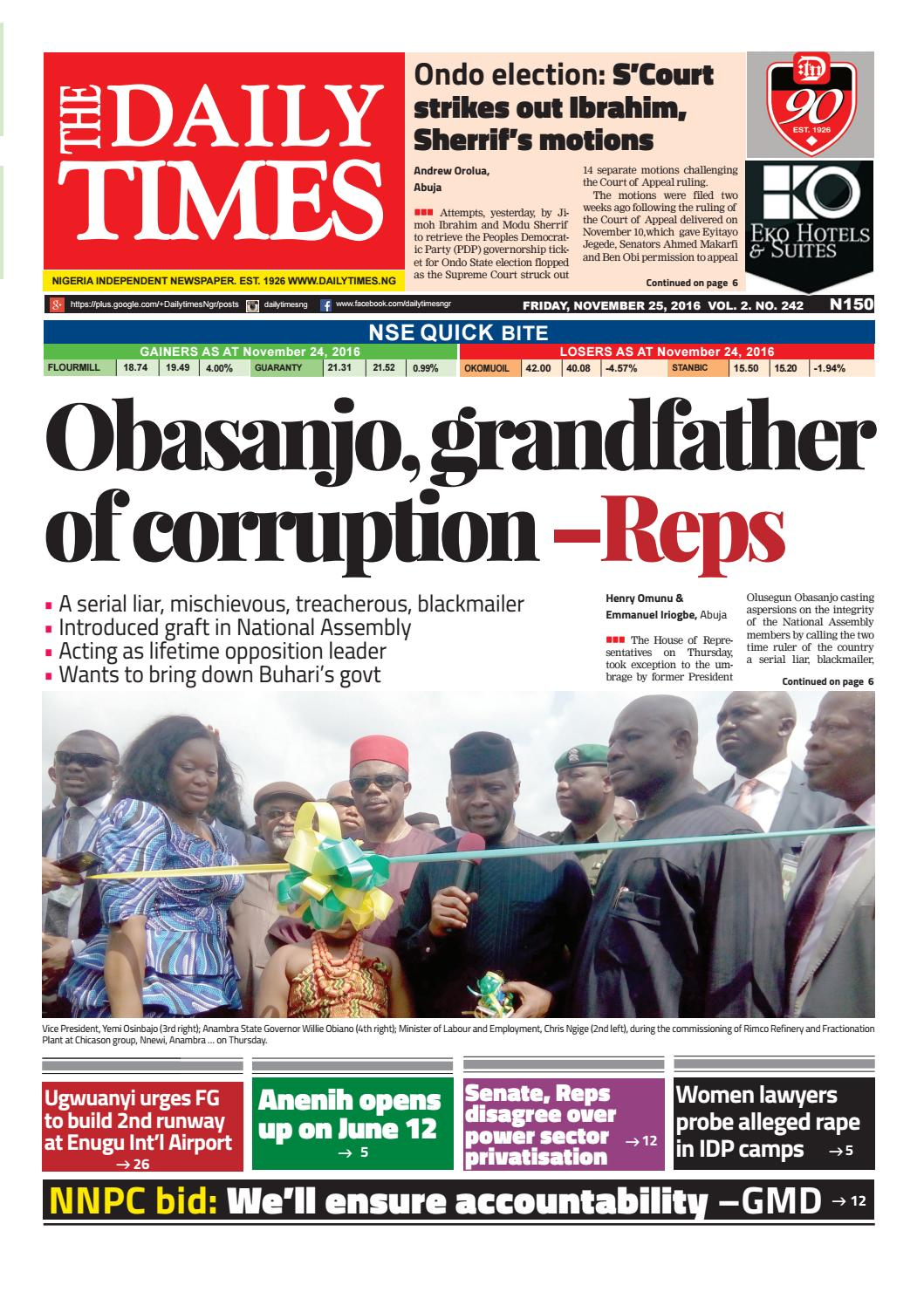 obasanjo essay This assignment paper has examined the causes of corruption in nigeria and its impact on this essay has been administration of president olusegun obasanjo.