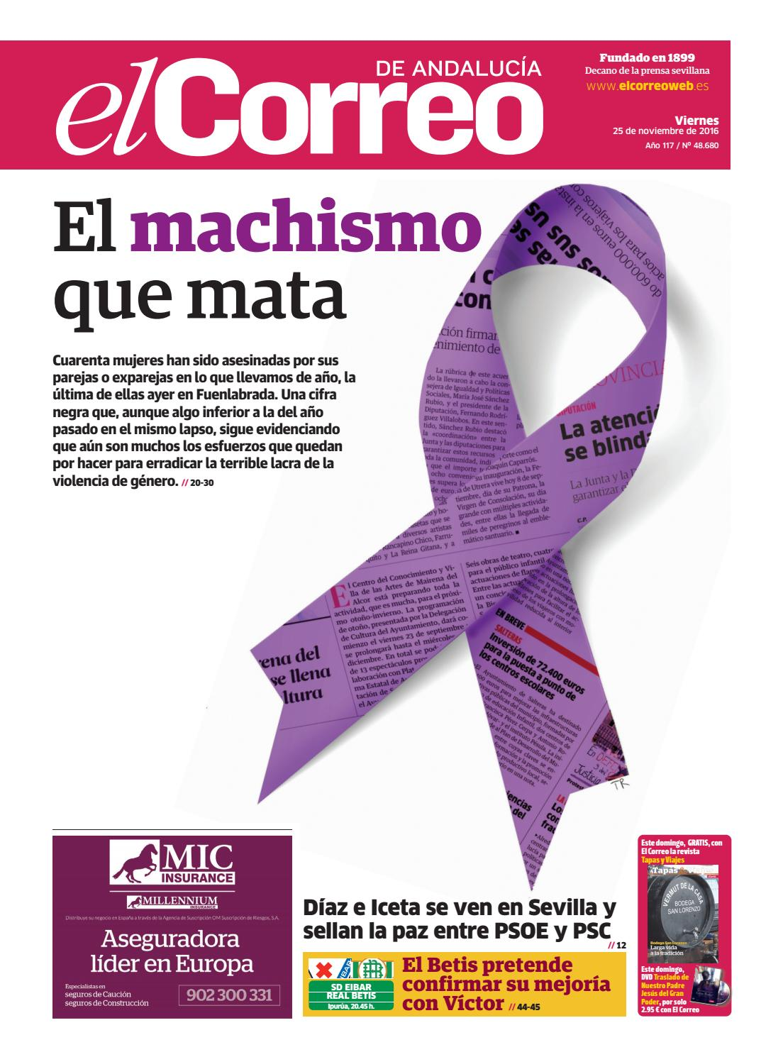 c1b27b07a5fbe 25 11 2016 El Correo de Andalucía by EL CORREO DE ANDALUCÍA S.L. - issuu