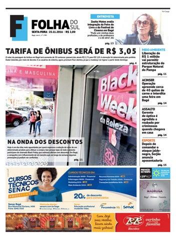 b66dfcdef9a0 Jornal Folha do Sul, 25 de novembro de 2016 by Folha do Sul Gaúcho ...