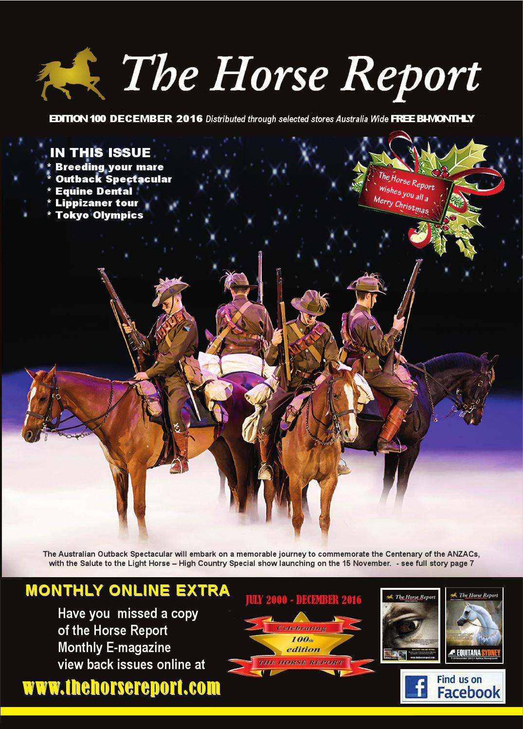 Horse report december 2106 by the horse report - issuu