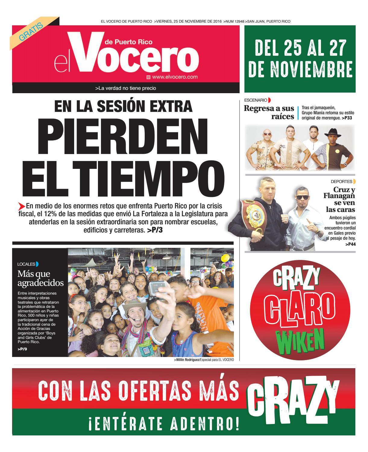 02de964e3 Edición 25 de Noviembre 2016 by El Vocero de Puerto Rico - issuu