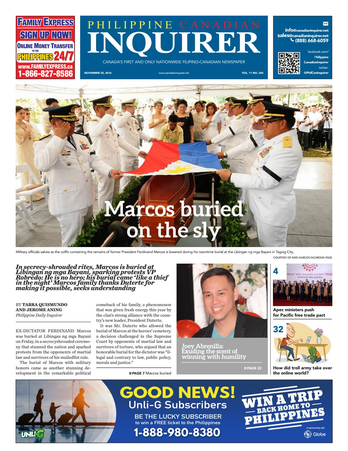 Philippine Canadian Inquirer #245 by Philippine Canadian Inquirer - issuu