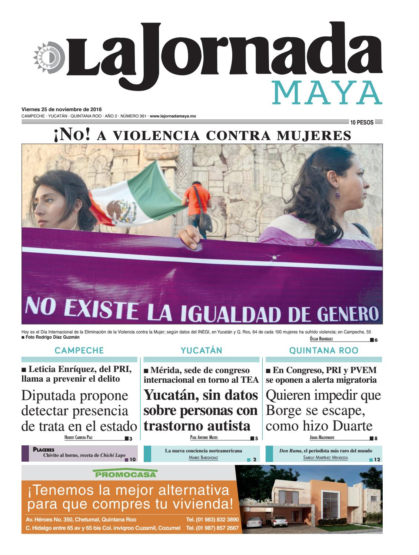 64603d9a95 La Jornada Maya · viernes 25 de noviembre