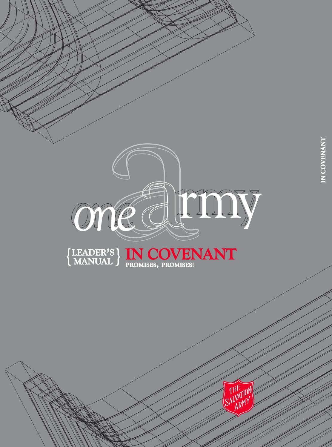 in covenant  leader u0026 39 s manual  by salvation army ihq