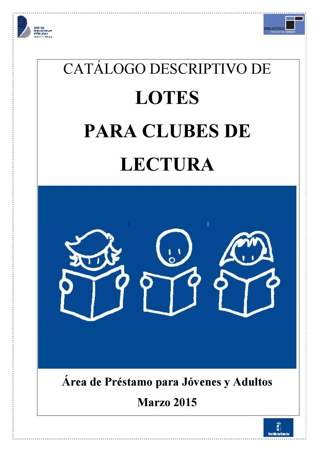 Catálogo Descriptivo Lotes Club Lectura Noviembre By