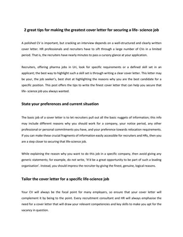 Buy life science cover letter professional critical thinking editing website online